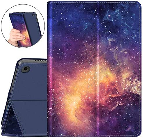 Fintie Case for All-New Amazon Fire HD 8 and Fire HD 8 Plus Tablet (tenth Generation, 2020 Release) - [Flex Stand] Premium Vegan Leather Multi-Angle Folio Cover with Auto Sleep Wake, Galaxy