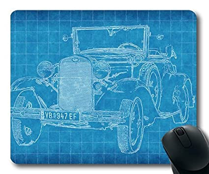 Amazon precision lock edge mouse pad car old car blueprint precision lock edge mouse pad car old car blueprint paper lines art draw42 gaming malvernweather Gallery