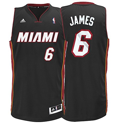 NBA Miami Heat LeBron James Swingman Jersey, Black, XX-Large (Miami Heat James compare prices)