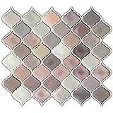 Dove Grey Arabesque Tile Peel and stick Backsplash kitchen bathroom decorative wall tile, 10