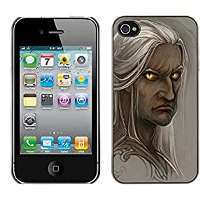 FlareStar Colour Printing Elf Grey Fairytale Portrait Character cáscara Funda Case Caso de plástico para Apple iPhone 4 / iPhone 4S / 4S