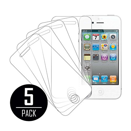 iPhone 4 / 4S Screen Protector Cover, MPERO Collection 5 Pack of Clear Screen Protectors for Apple iPhone 4 / 4S