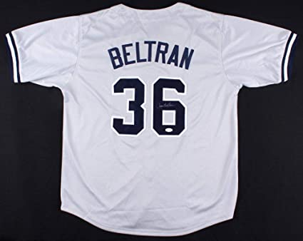 Carlos Beltran Autographed Signed New York Yankees Jersey