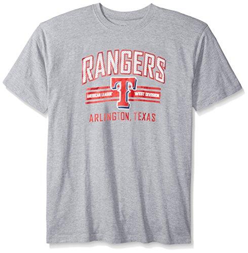 MLB Texas Rangers Men's Screen Print Tee, 3X, Heather Grey – DiZiSports Store
