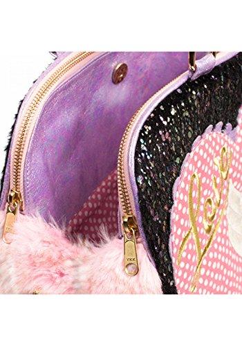 Irregular Choice What A Hoot Owl Love Faux Fur Novelty Handbag (One Size, Black & Pink) by Irregular Choice (Image #4)