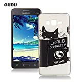 OuDu Silicone Case for Samsung Galaxy Grand Prime G530 Soft TPU Rubber Cover Flexible Slim Case Smooth Lightweight Skin Ultra Thin Shell Creative Design Cover - World Domination for Cats