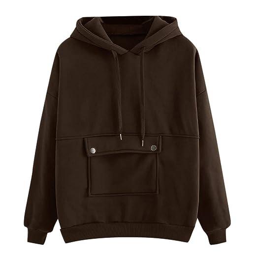 b9968edb4cf1 NOMENI Women Sweatshirt Hoodie Tops Autumn Fashion Casual Loose Long ...