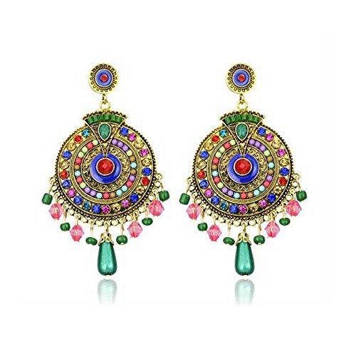 Darkey Wang Woman Fashion Jewelry Bohemian Unique Earrings (Clay Royal Flush)