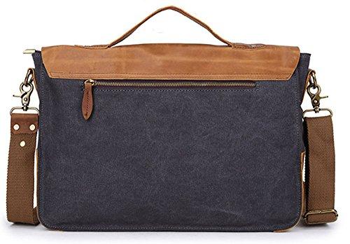 Grey 26cm Bolso 10 De 36 Flocc Escuela Bolsa Izacu bug Mensajero Green Lona Para Hombre 6SP67Bq