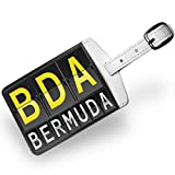 Luggage Tag BDA Airport Code for Bermuda, Travel ID Bag Tag - Neonblond