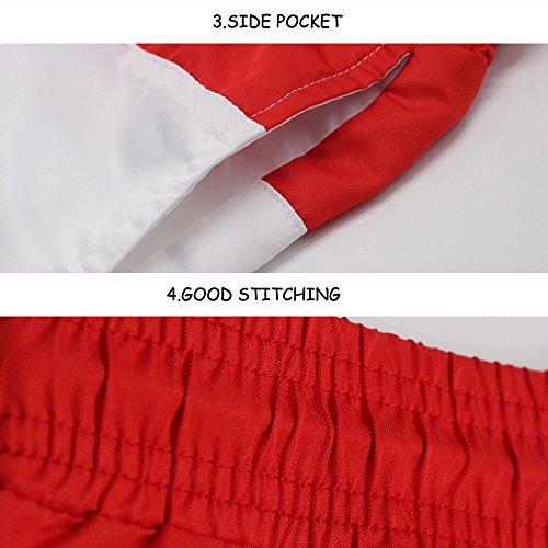 87b8c9bc67 ... JJLIKER Men Striped Elastic Waist Drawstring Shorts Causal Beach Shorts  Lightweight Slim Fit Summer Pants swith ...