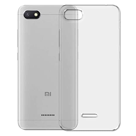 SKMO Protective Silicon Soft Transparent Shockproof Back Cover Case for Xiaomi Redmi 6A Cases   Covers