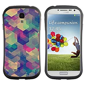 "Hypernova Slim Fit Dual Barniz Protector Caso Case Funda Para SAMSUNG Galaxy S4 IV / i9500 / i9515 / i9505G / SGH-i337 [Patrón de arte en colores pastel Calmante""]"