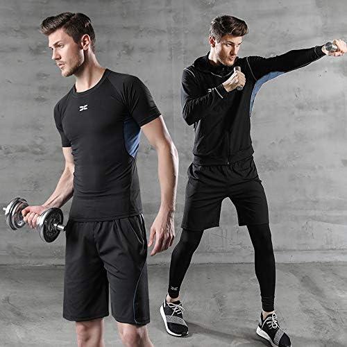 Superora Fitness Kleidung Set 5 st/ück m/änner Athletic Fitness Sport Anzug