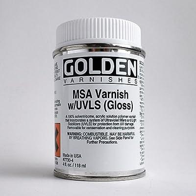 Golden MSA Varnish Gloss with UVLS - 4 oz Bottle