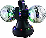 Lightahead 4' Twin Mirror Ball, multiple-changing LED bulbs,rotating in...