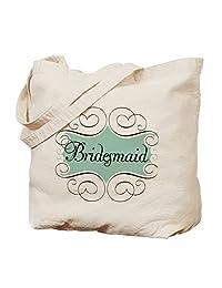 CafePress - Beautiful Bridesmaid - Natural Canvas Tote Bag, Cloth Shopping Bag