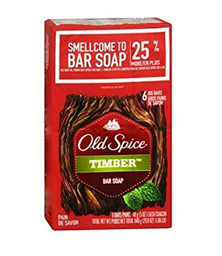 Old Spice Timber Bar Soap (6 Pack) (Old Spice Pure Sport Body Wash Review)