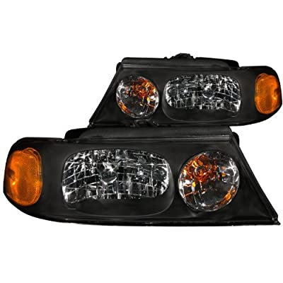Anzo USA 111046 Lincoln Navigator Crystal Black Headlight Assembly - (Sold in Pairs)