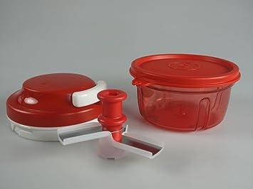 TUPPERWARE Turbo Chef rojo + Tapa para Turbo Max Turbo Chef rojo: Amazon.es: Hogar