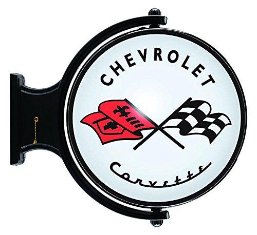(Liberty Classics 91495 Black/White/Red Corvette Revolving Wall Light)