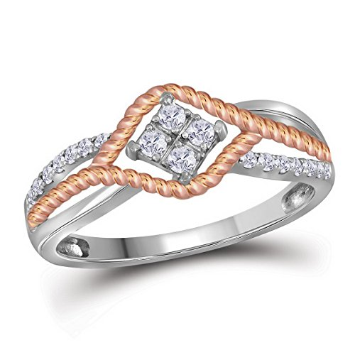 Rope Two Tone Ring - 9