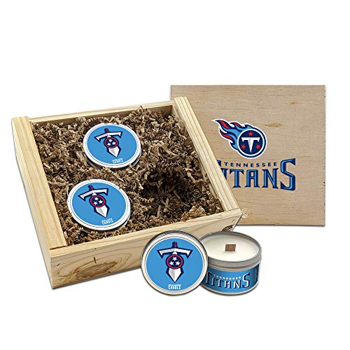 Worthy Promo NFL Scented Candles Gift Set in Wood Box (Tennessee Titans)