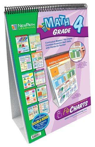 NewPath Learning Math Curriculum Mastery Flip Chart Set, Grade 4