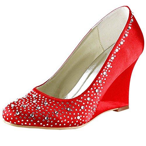 Kevin Fashion ,  Damen Hochzeitsschuhe , Rot - Rojo - Style1-Red - Größe: 43