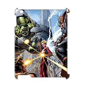 TOSOUL Avengers Marvel Pattern 3D Case for iPad 2,3,4