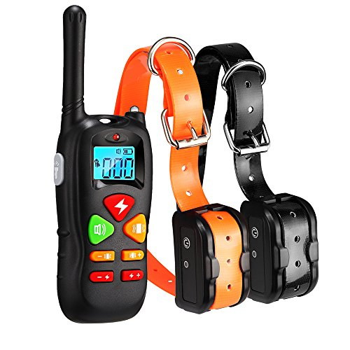 Wiscky Dog Training Collar for 2 Dogs Training Collars with Remote 1000ft Waterproof Rechargeable Dog Shock Collar for Dogs with Beep Vibration and Harmless Shock for Small Medium Large Dog Review