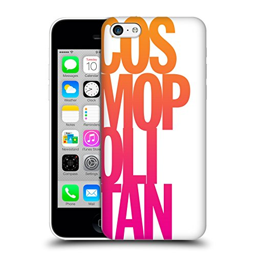 Official Cosmopolitan Stacked Logo Hard Back Case for Apple iPhone 5c