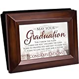 Cottage Garden Graduation Dreams Great Things Woodgrain Raised Panel Easel Back Photo Album