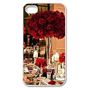 red floral DIY Cell Phone Case for iPhone 4,4S LMc-32224 at LaiMc