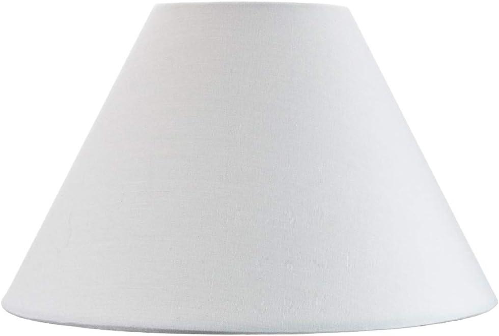 Traditioneller 10 wei/ßer Baumwoll-Coolie-Lampenschirm passend f/ür Tischlampe oder Anh/änger von Happy Homewares