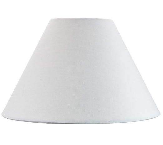 Pantalla Tradicional 14 tipo Coolie de Algodón blanco adecuado para lámpara de mesa o colgante por Happy Homewares