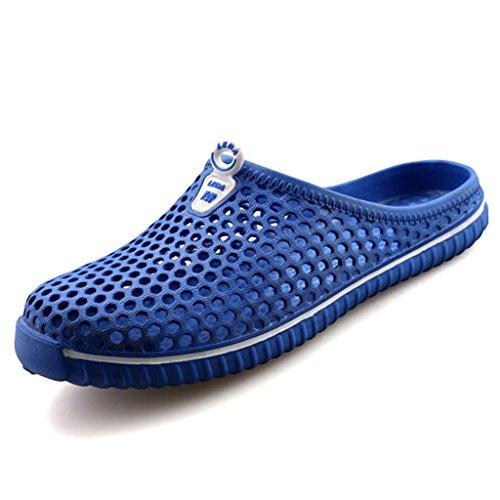 Pantofole Slipers Clogs On Slip Unisex Sandali Cavo Spiaggia Davanti Giardino Pantofola Chiuse Scarpe Interno Juleya Uomo Scarpe Scarpe Casa Piatto Blu su Donna Mules All'aperto Casuale Pantofole T5wpA