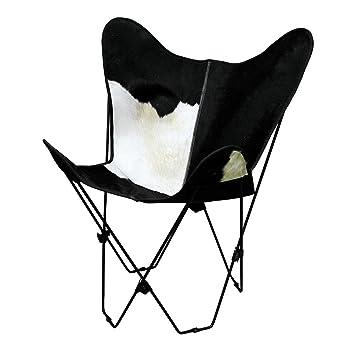 Pelo natural de vaca auténtica de piel mariposa silla ...
