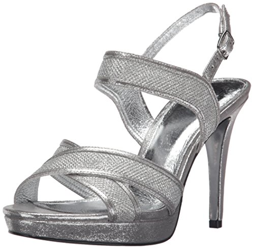 Papell Sandal Ansel Adrianna Silver Dress Women 7qaadwT