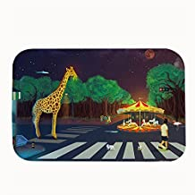 Giraffe Rug Entry Way Outdoor Non-slip Door Mat 40 x 60cm
