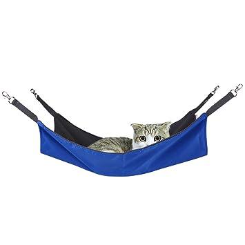 RCruning-EU Hamaca para Gatos cómoda Cama de Columpio Cama para para Mascotas Jaula para Cachorros y Conejos-Blue 58x38cm: Amazon.es: Productos para ...