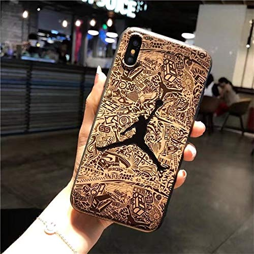 1 piece Case for iPhone X XS Max XR 5 5S SE Super hero Spiderman Ironman Air Jordan Soft TPU Cases for iPhone 6 6S Plus 7 7Plus 8 8Plus
