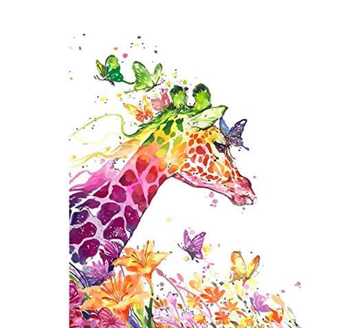 Yqgdss Wandkunst Bild Für Wohnkultur Moderne DIY Tierölgemälde Malen Nach Zahlen Digitale 40x50cm-Rahmen B07PMK3GDJ | Exquisite Handwerkskunst