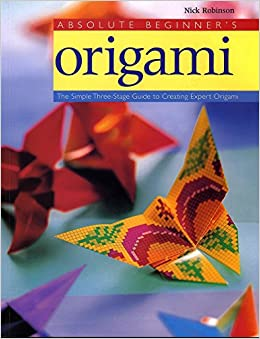 1 Sheet Of Paper Folded Artwork To Learn The Basics Of Folding Simple Origami Encyclopedia Guide Books United Manual Origami Book Office & School Supplies