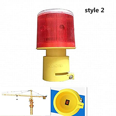 Puerto y Carretera Eleganantamazing Bombilla LED de Advertencia de tr/áfico con energ/ía Solar para iluminaci/ón de Emergencia en el Lugar de construcci/ón