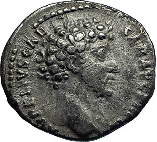 (151 IT MARCUS AURELIUS as Caesar Ancient 151AD AR Roman Denarius Good)