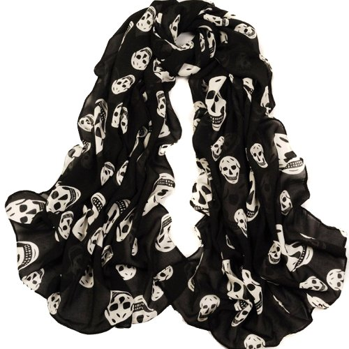 ecosco-scarf-girls-skulls-printed-black-long-soft-scarf-shawl-white