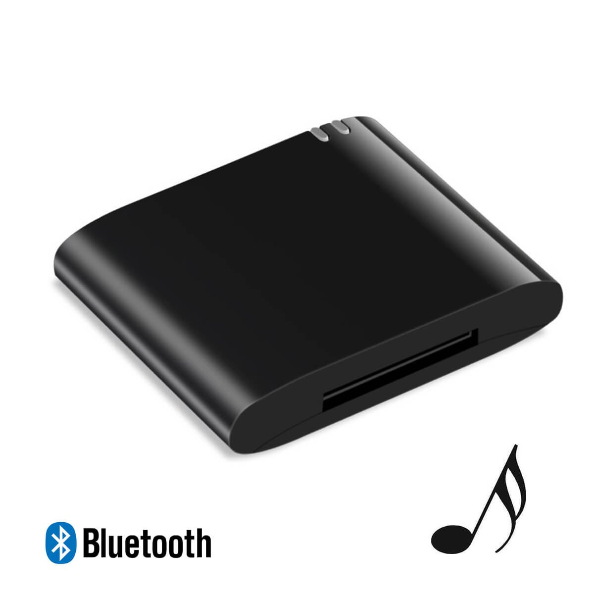 JOOKKI 30 Pin Bluetooth Music Receiver Wrieless Audio Adapter V4.1 for Bose Sounddock,Home Stereo,30 Pin Dock Speaker(Black)