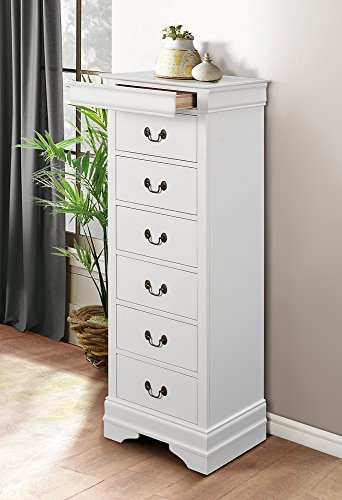 (Homelegance Quincy 7-Drawer Lingerie Chest, White)