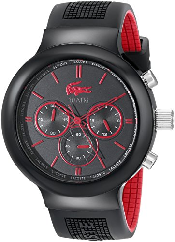 Lacoste 2010652 Boneo Black Red Stainless Steel Watch